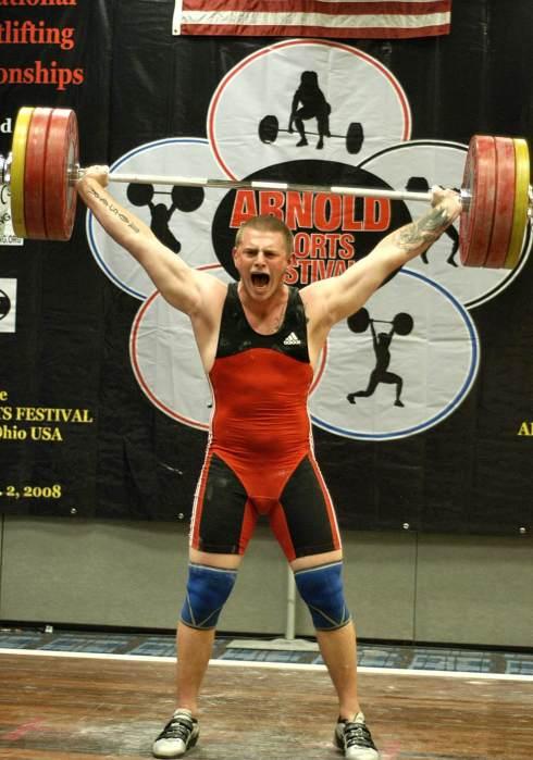 M105 James Moser 160 kg (352 lb) finished snatch